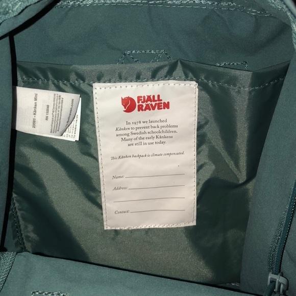 Mini Forest Green Fjallraven Kanken Backpack